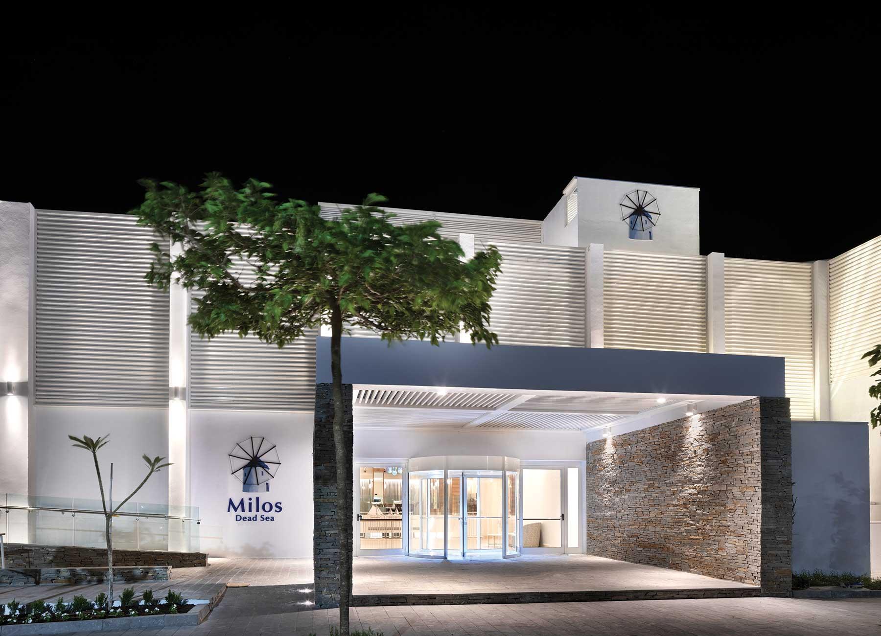 כניסה למלון מילוס ים המלח
