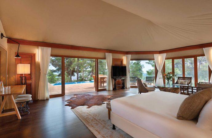 אוהל אפריקאי במלון הרברט סמואל בית בגליל בוטיק