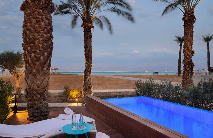 Dead Sea Hotel Room with Pool-